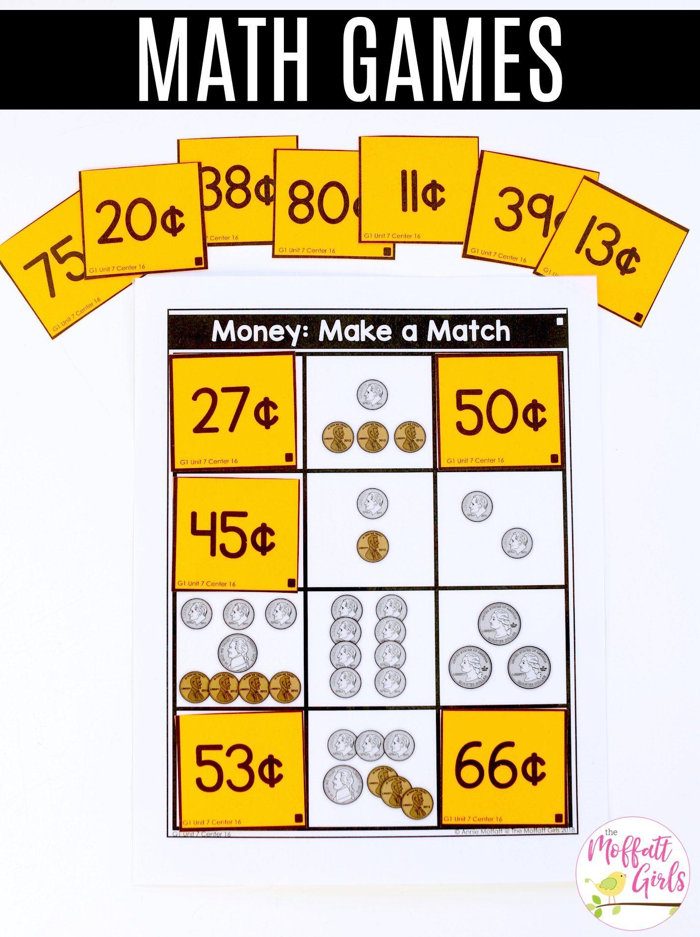 First Grade Math Money Math, First grade math, First grade