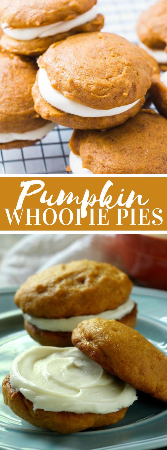 Cream Cheese Filled Pumpkin Whoopie Pies