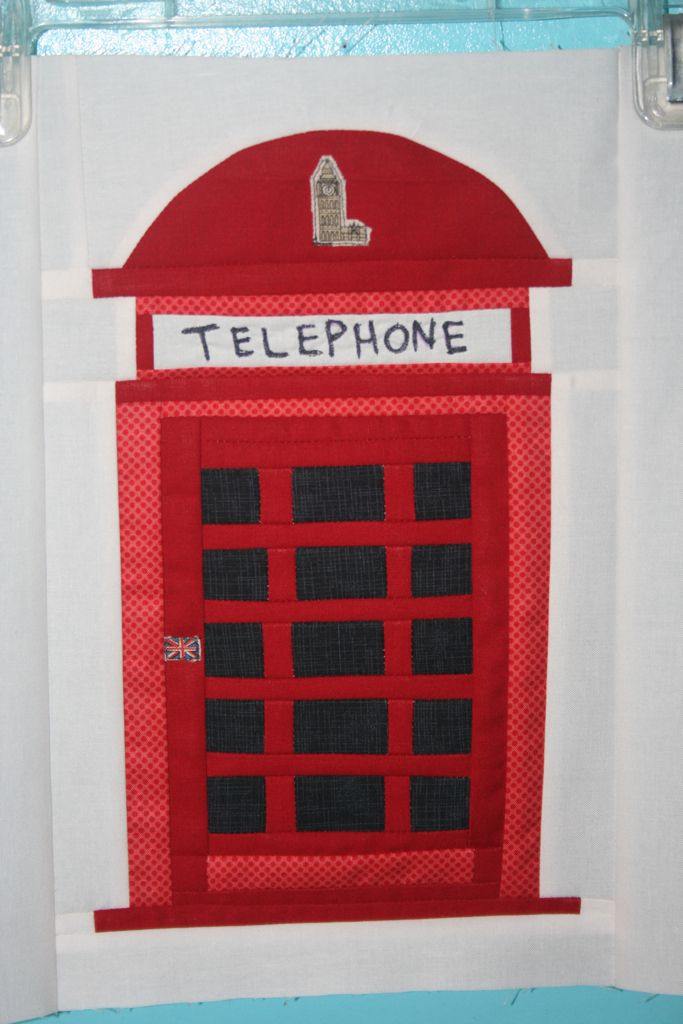 phone booth for London quilt