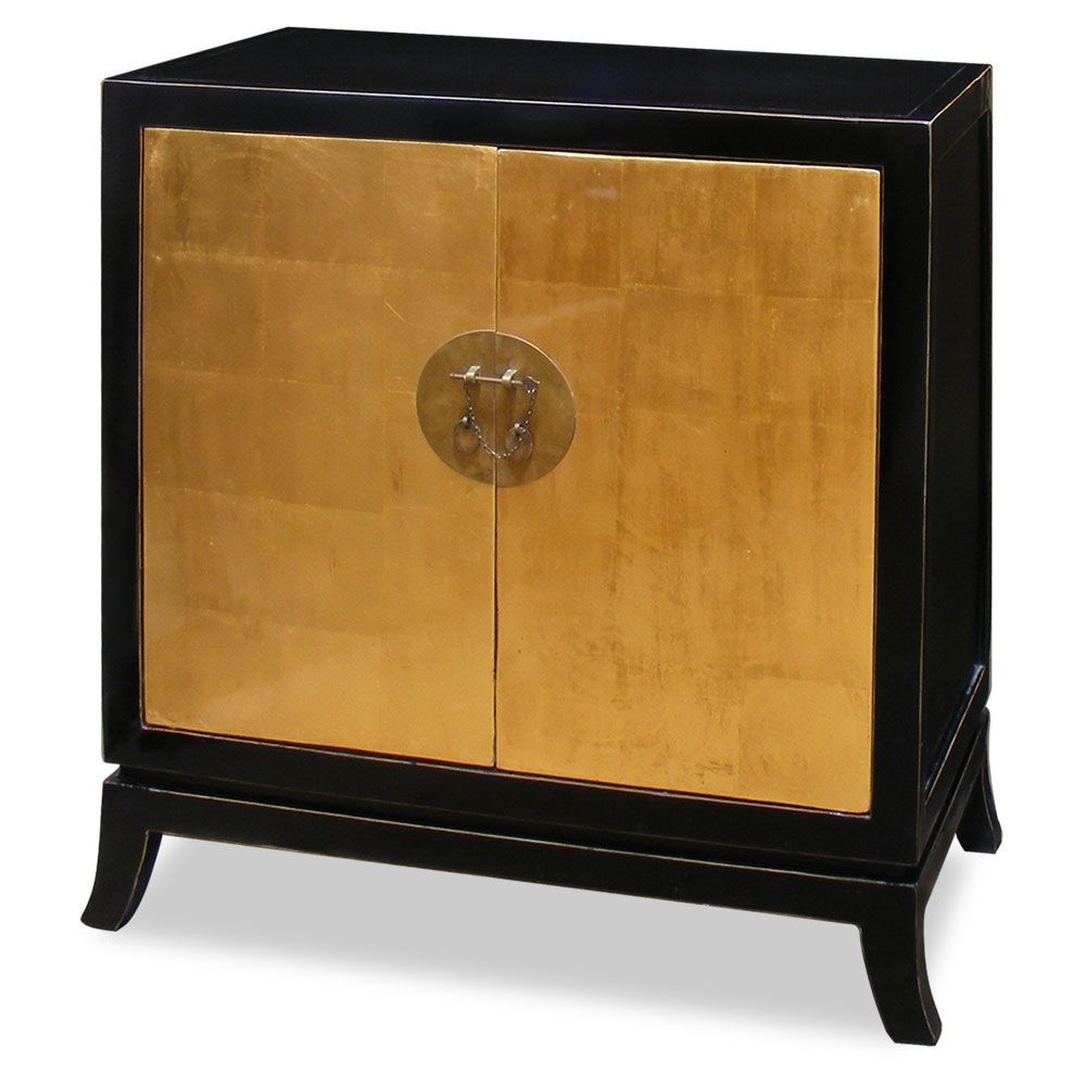 Gold Leaf Two Door Tang Cabinet   Asian   China Cabinets And Hutches    China Furniture And Arts