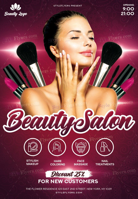 Beauty Salon PSD Flyer Template 22779 Flyer, Psd flyer