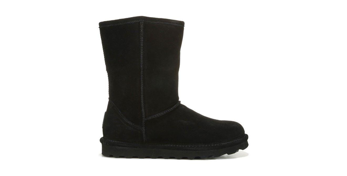 63a2af617 BEARPAW Women's Elle Wide Short Water Resistant Boot in Black, Size 8W or  9W   Famous Footwear