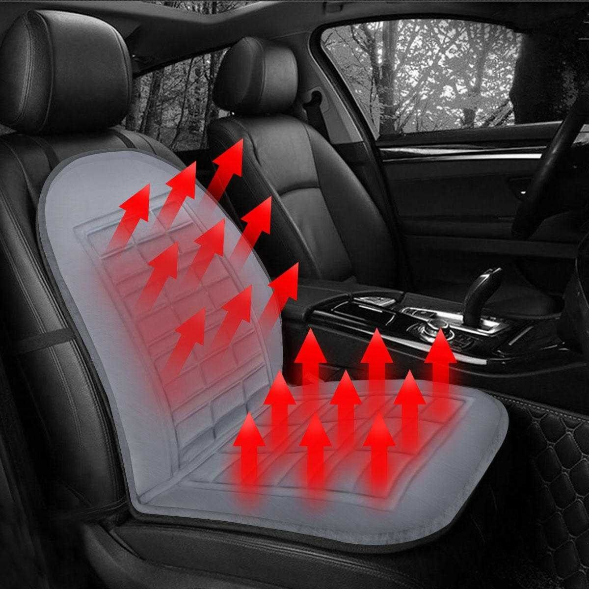 12v Car Front Seat Heated Cushion Winter Warmer Cover Protector
