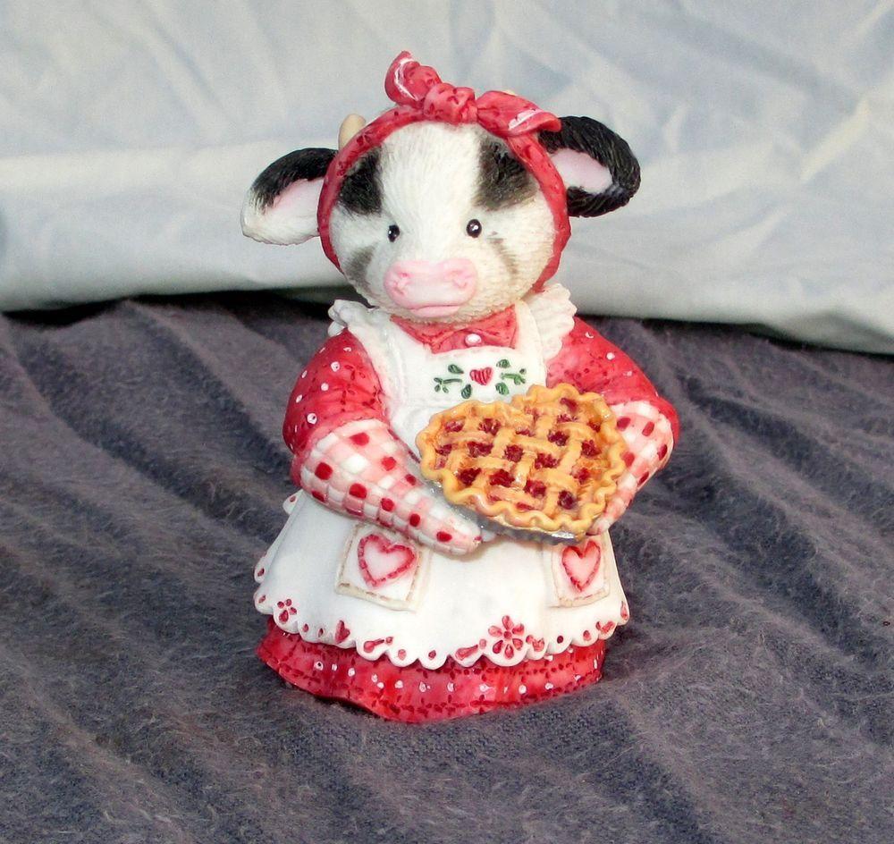 Home interior masterpiece figurines vintage enesco maryus moo moo  youure my sweetie pie cow