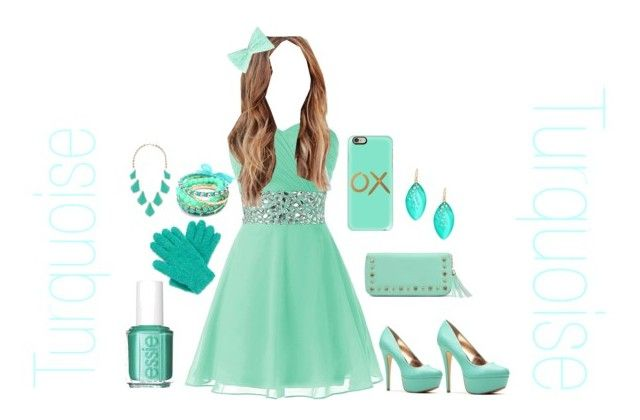 """""""Tantalisingly Turquoise #2"""" by abigailwilkin ❤ liked on Polyvore featuring Essie, Casetify, Mixit, Ruby Rocks, Alexis Bittar and Kendra Scott"""