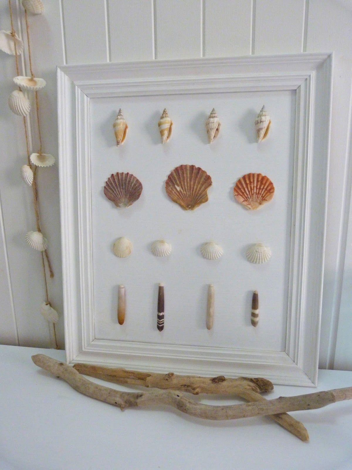 Badezimmer dekor bastelideen framed shells  seashells stones u sands  pinterest  schwemmholz
