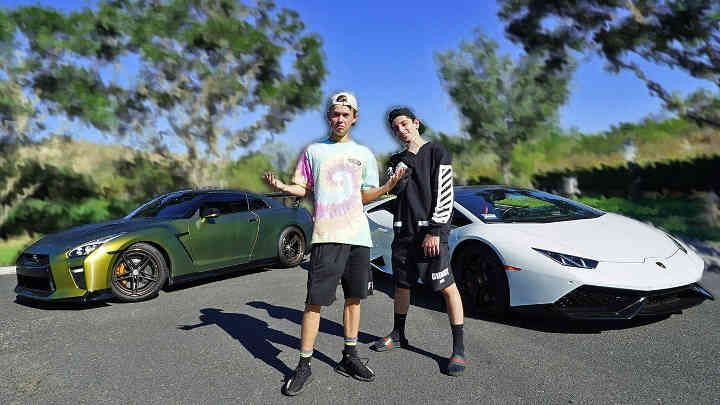 Here We Go New Video Is From Tanner Fox Today Went To Faze Rug House And Started Volgging They Both For A Race With Gtr