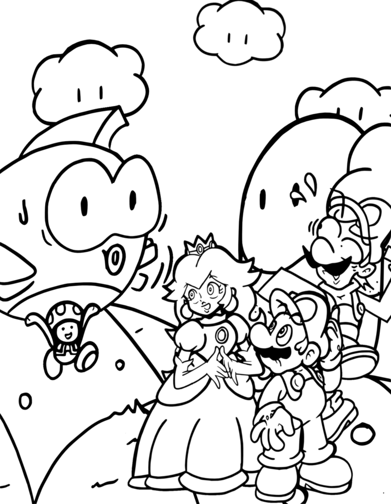 nintendo coloring pages free-#15