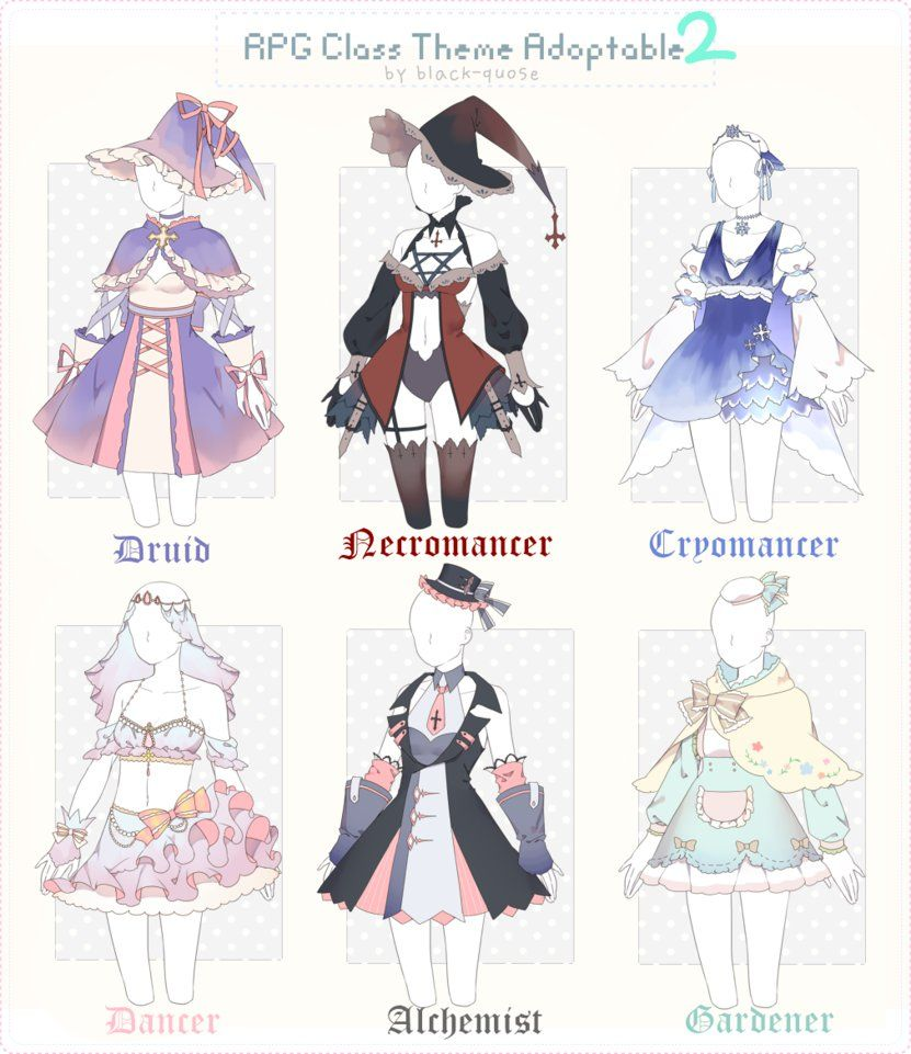 CLOSED] RPG Class Theme Outfit Adopt 30 by Black,Quose
