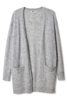Soft Knit Grey Oversize Cardigan