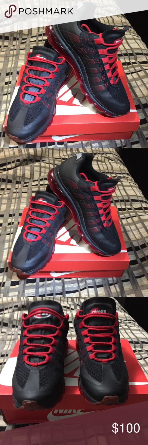 premium selection 9bd12 fc4c2 NIKE AIR MAX 95 SZ 10 NIKE BB Nike AIR MAX 95 + BLACK/SPORT RED ...