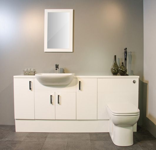 White Gloss Fitted Bathroom Furniture 1800mm Fitted Bathroom Furniture Fitted Bathroom Bathroom Furniture
