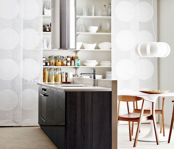Ikea Kitchen Tingsryd: METOD Kök Med RINGHULT Svarta Lådfronter Och Luckor I