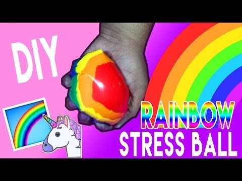 DIY | Rainbow Stress Ball - HOW TO MAKE A STRESS BALL WITHOUT ...