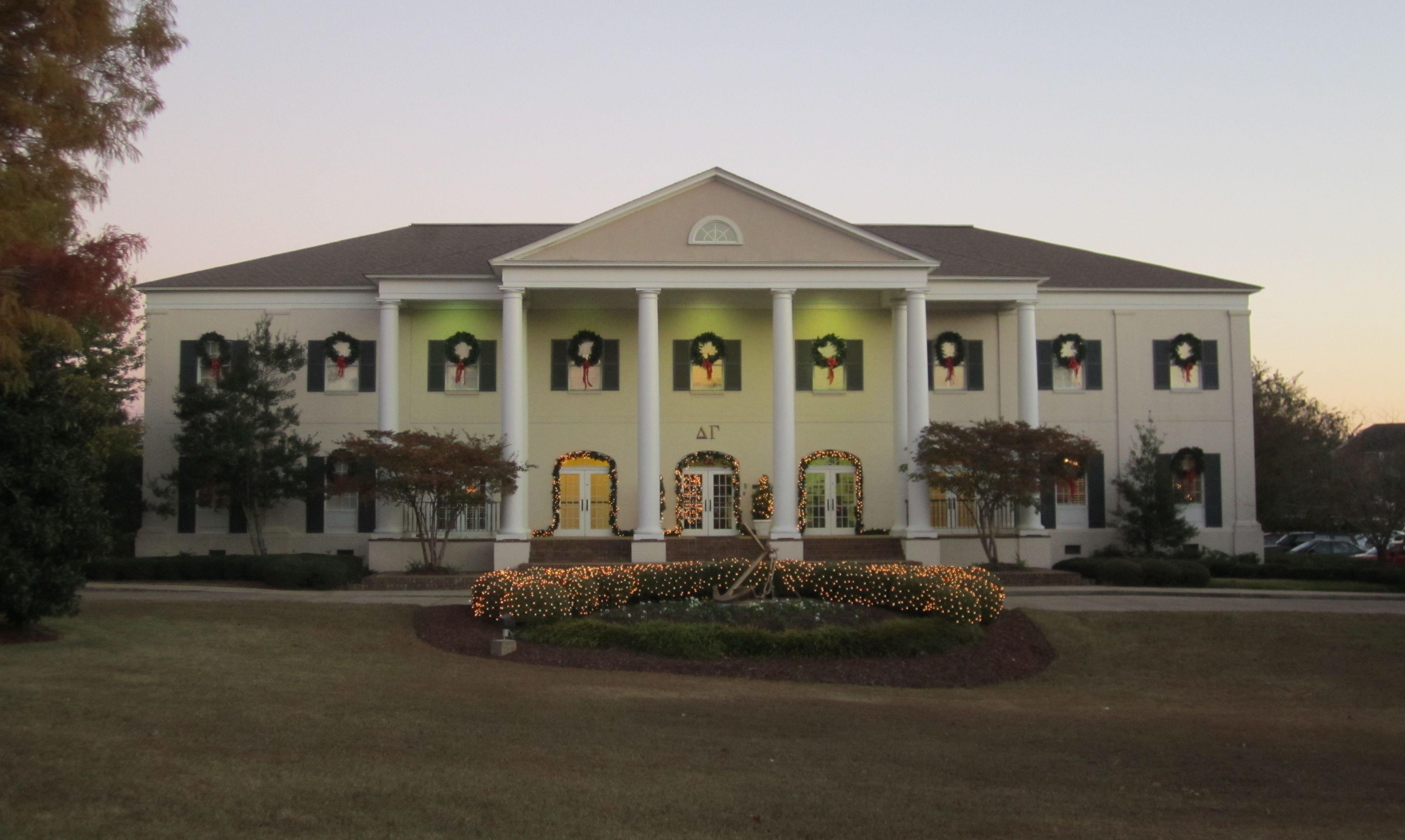 Tis The Season At The Delta Gamma House Delta Gamma House Mississippi State University