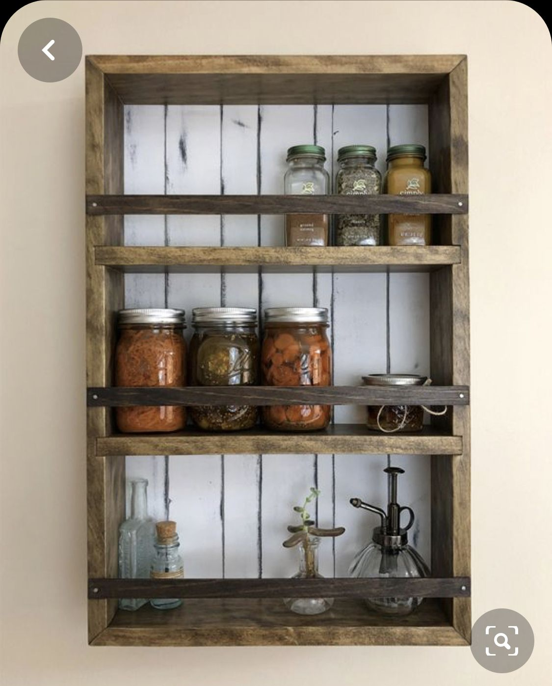 Wall Mounted Wooden Spice Rack Plans: Pin By Kirsten Veitch On Kitchen Spices In 2020