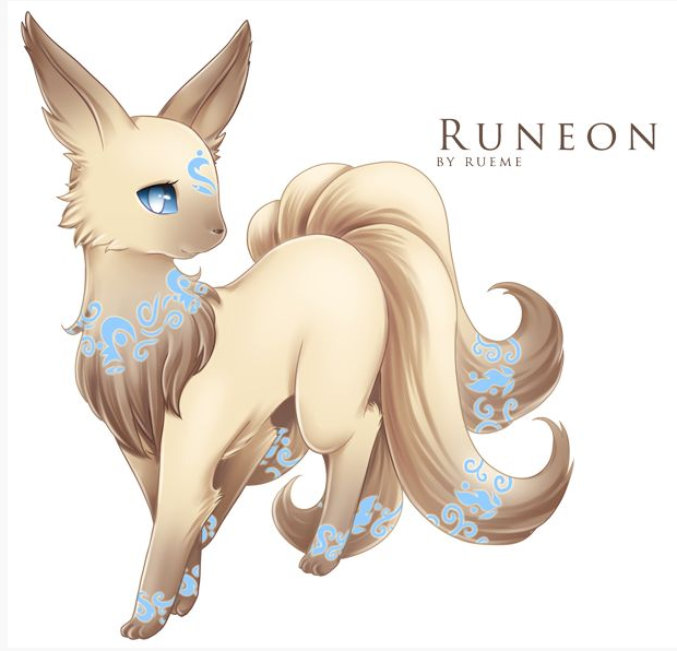 Pokemon fake, eevee evolution: Runeon I wish this was real though
