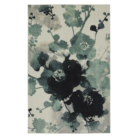 Porch Den Scottsdale Floral Watercolor Area Rug 5 3 X 7