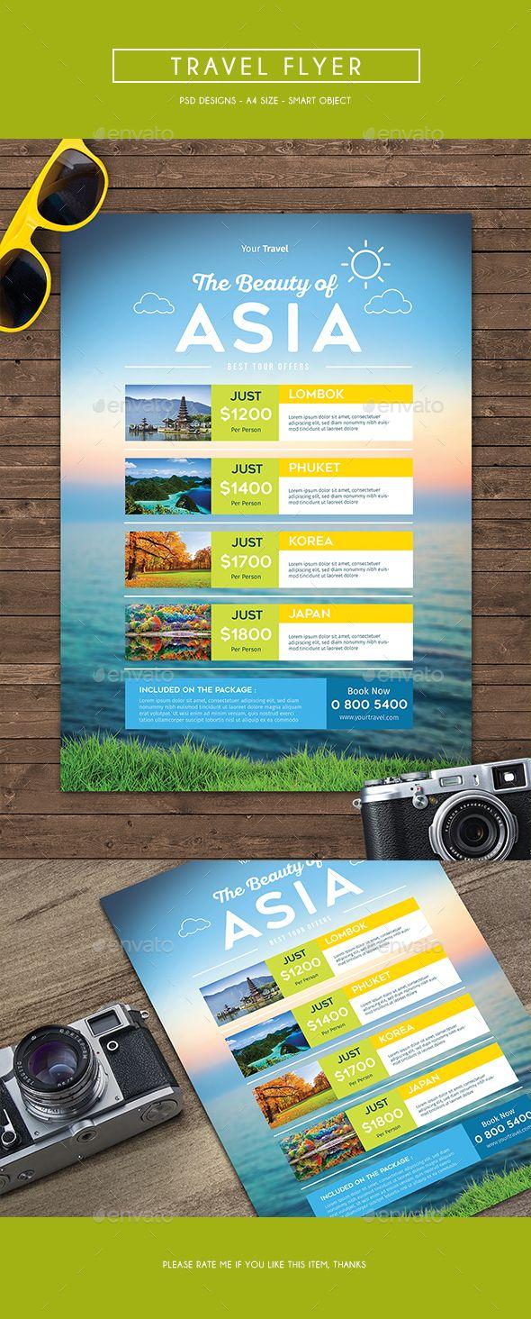 Travel Flyer | Flyer template, Brochures and Mockup
