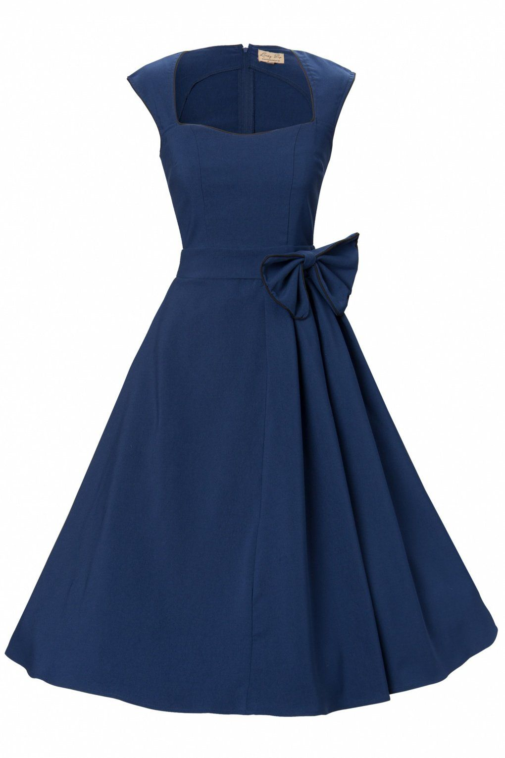 Das 1950\'s Grace Midnight Blue Bow vintage style swing party ...