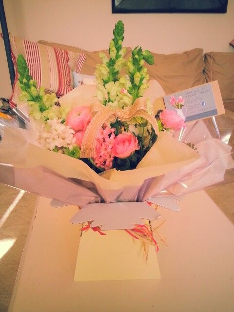 Bouquet box to go from Kate Lister Flower Design Grimsby