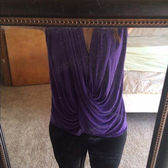 Purple Top Cute top. Only worn a few times Jennifer Lopez Tops