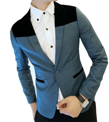 Egyptian Blue/Black 2-Tone Mens Suit Jacket | Suits | Pinterest ...