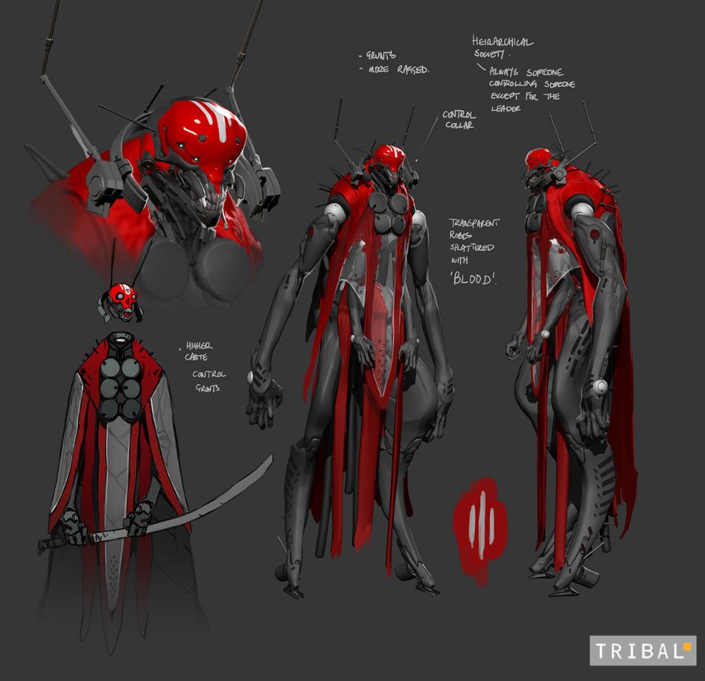 Artstation Triballllll Darren Bartley Fightpunch Scifi Fantasy Art Concept Art Characters Sci Fi Concept Art