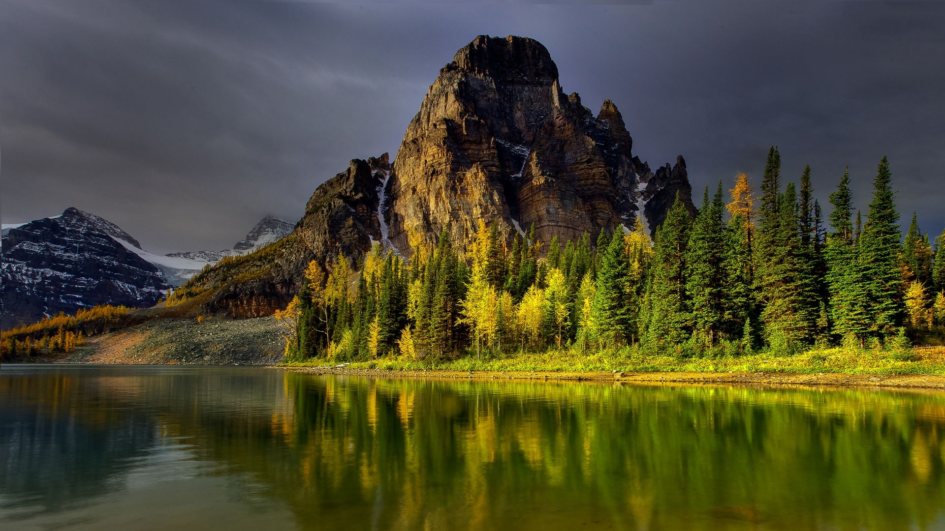 Download Wallpaper Mountains Sky Nature Lake Full HD