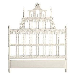 Furniture. Cream painted bed. This bed is fit for a princess! So amazing!