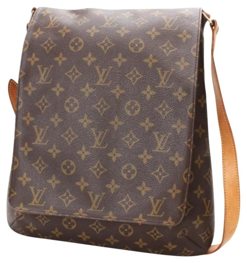 849b5cb9d743 Louis Vuitton Musette Salsa Gm As0051 Extra Large Tote Brown Monogram Cross  Body Bag. Get the trendiest Cross Body Bag of the season!