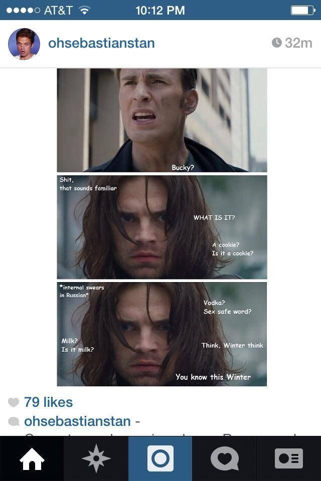 Think, Winter think    You know this Winter    Oh dear gosh | Bucky