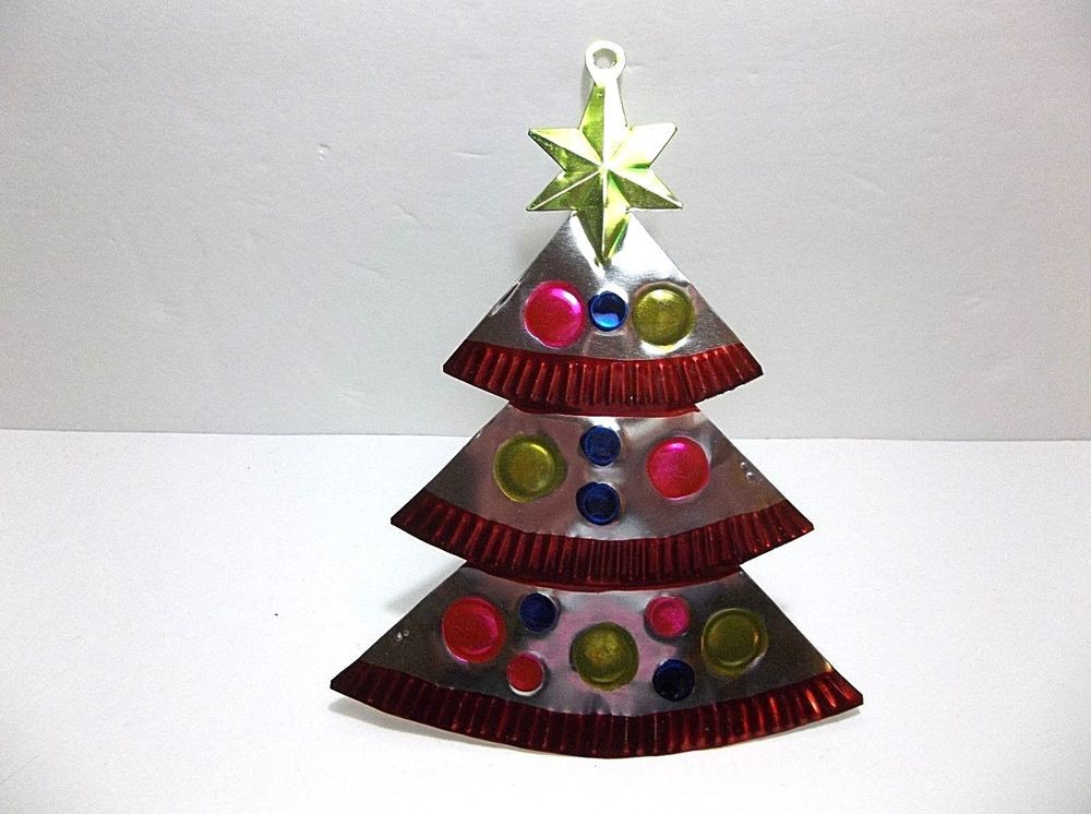 Vintage Mexican Folk Art Punched Pierced Tin CHRISTMAS ...