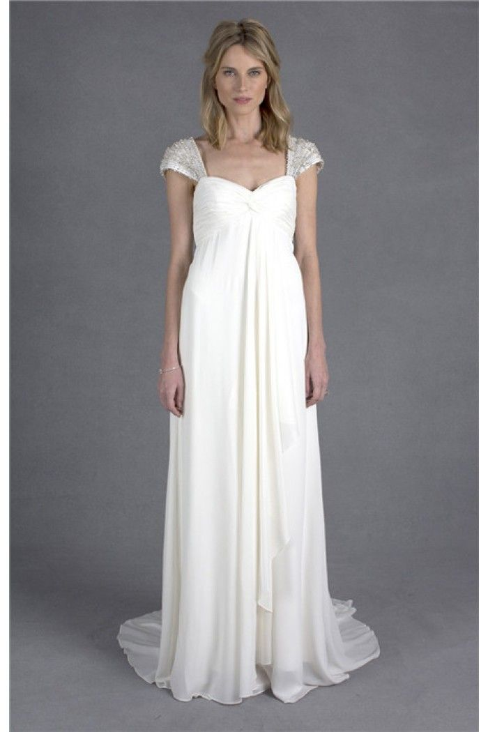 Vintage A Line Sweetheart Empire Waist Chiffon Maternity Wedding ...