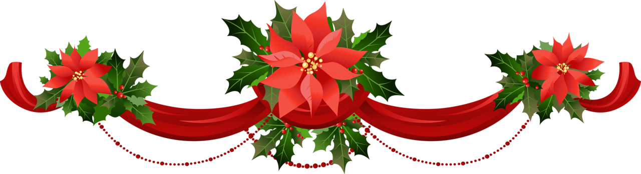 Transparent Christmas Garland With Poinsettias Png Clipart Gallery Yopriceville High Quality Images And Transparent Png Christmas Garland Clip Art Garland