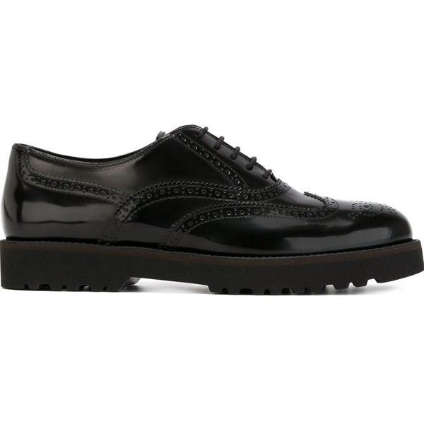 Hogan Ridged Sole Brogues (23.840 RUB) ❤ liked on Polyvore featuring shoes,  oxfords