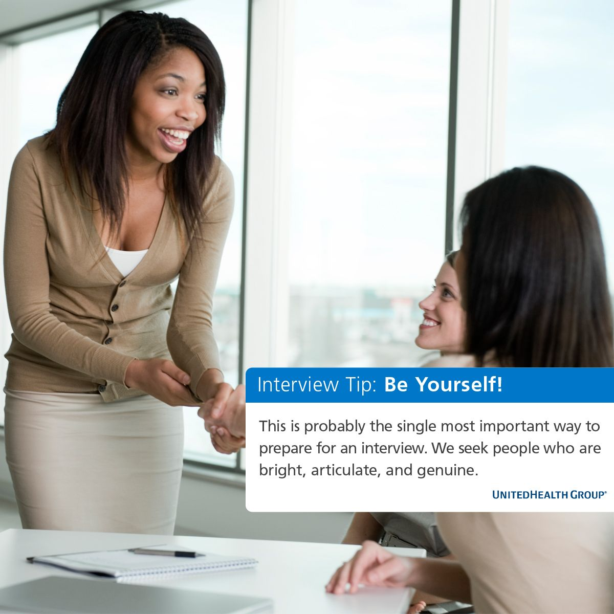 UnitedHealth Group Interview TIp Be Yourself! Job