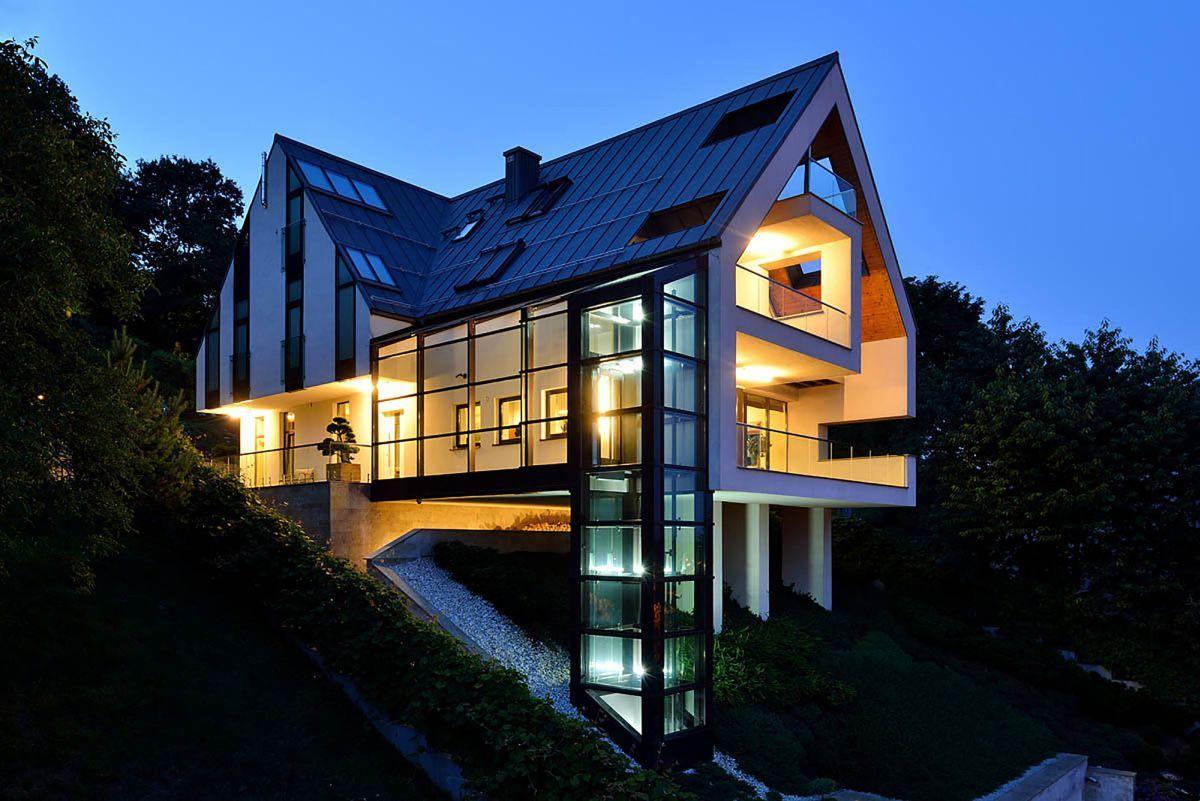 modern house plans slope Modern House