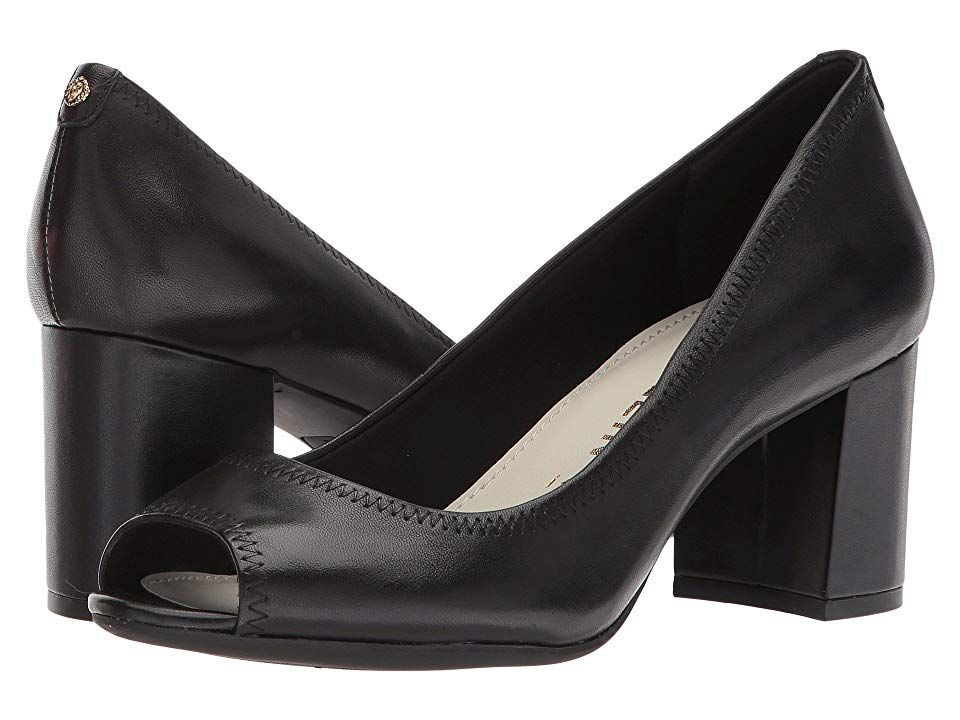 dceb395ee4a Anne Klein Meredith (Black Leather) Women's Shoes. Go for glamorous ...