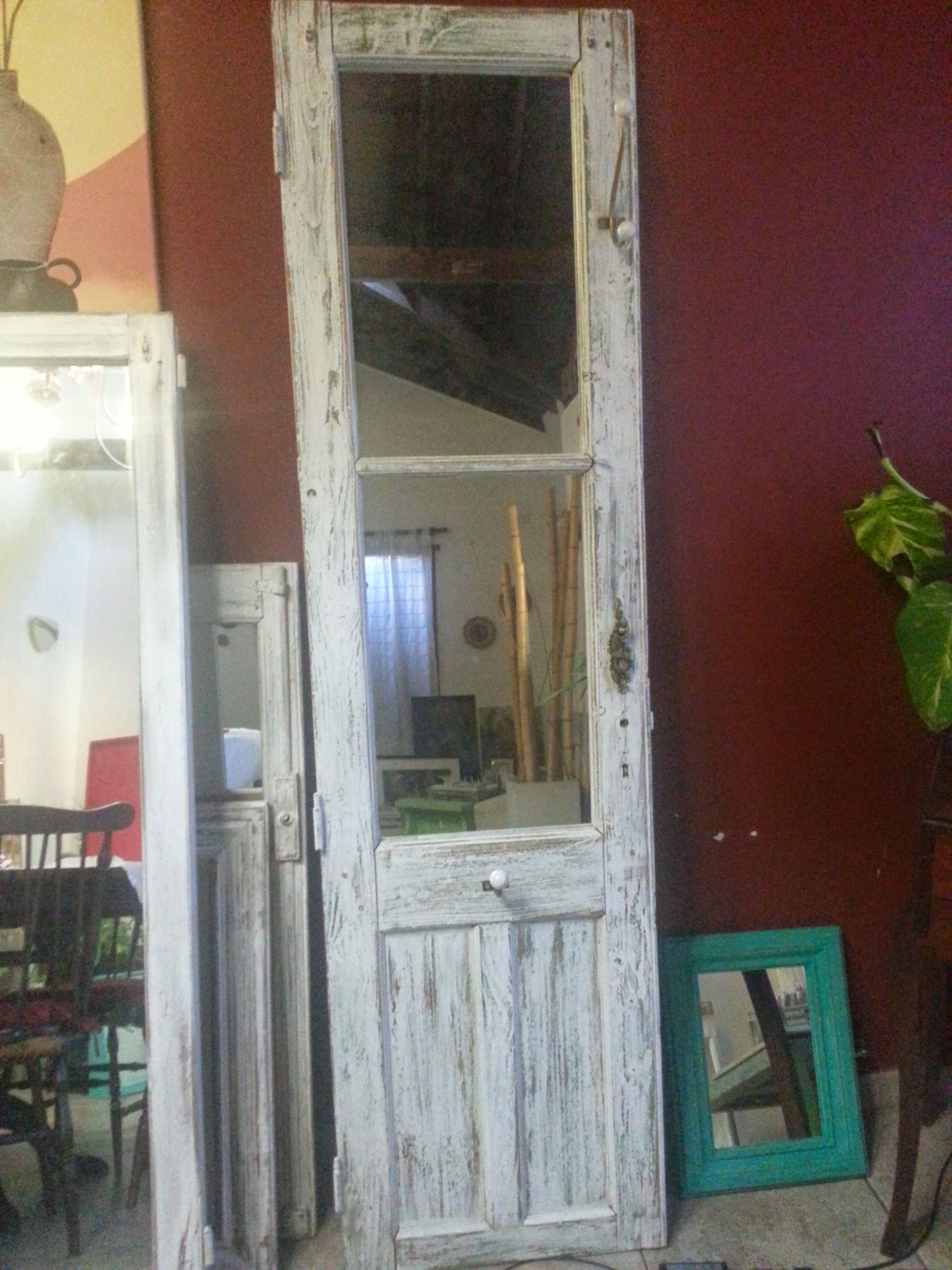 Puerta Espejo Con Perchas Reciclado Muebles Pinterest Percha  # Muebles Lijados