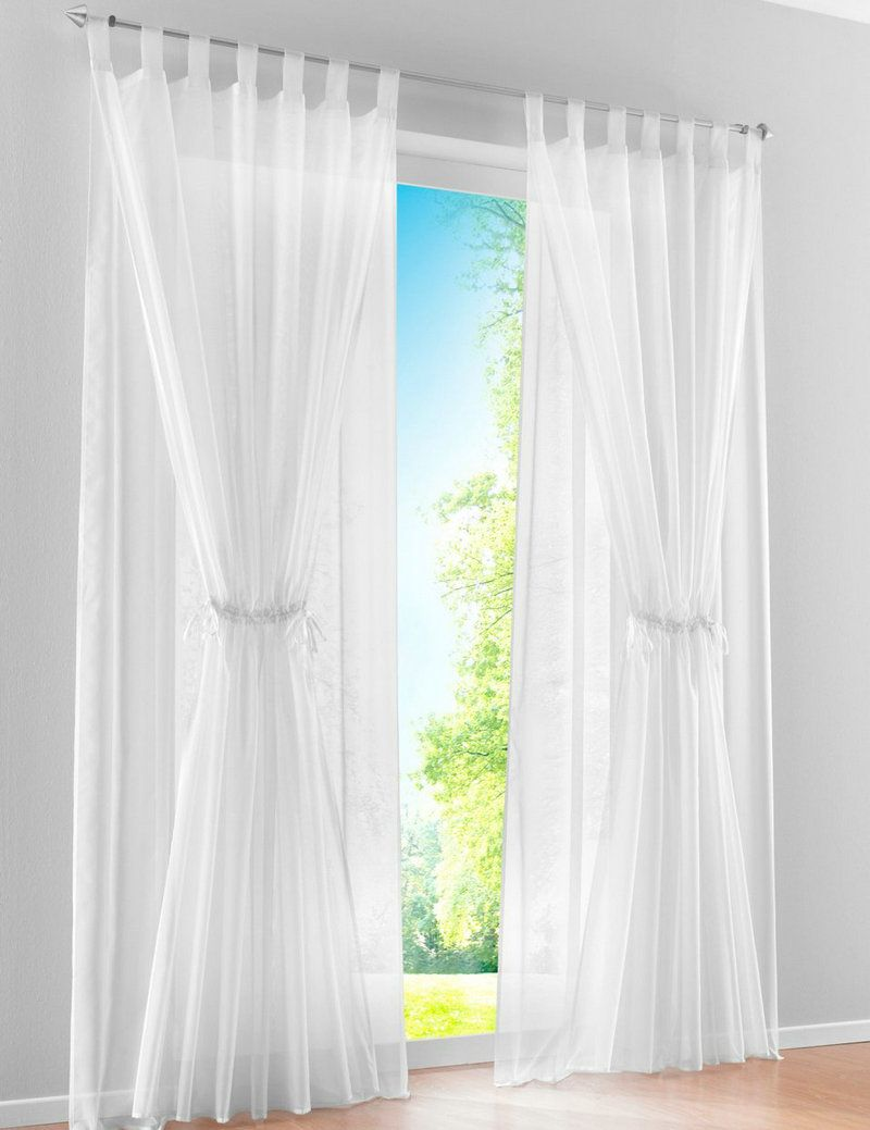 New Mediterranean Double Layer Design Sheer Voile Living Room Window Curtains 2 Panels