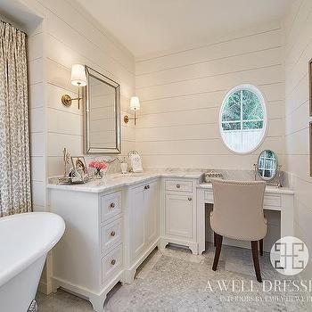 Corner Vanity With Makeup Table Corner Vanity Trendy Bathroom