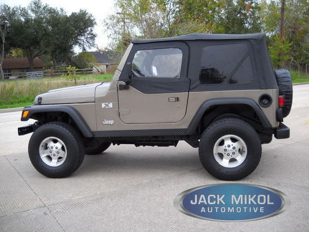 Diamond Black Soft Top For 97 06 Jeep Wrangler Skins Tinted Rear