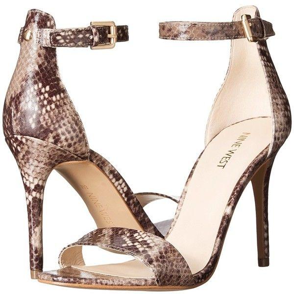 Nine West Mana High Heels (775 NOK) ❤ liked on Polyvore featuring shoes, sandals, high heel sandals, open toe stilettos, platform sandals, platform shoes and nine west
