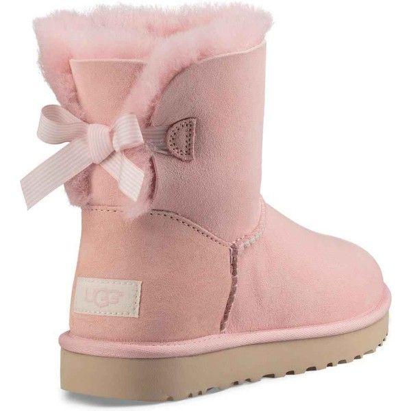 ugg women s mini bailey bow stripe petal boots 150 liked on rh pinterest com