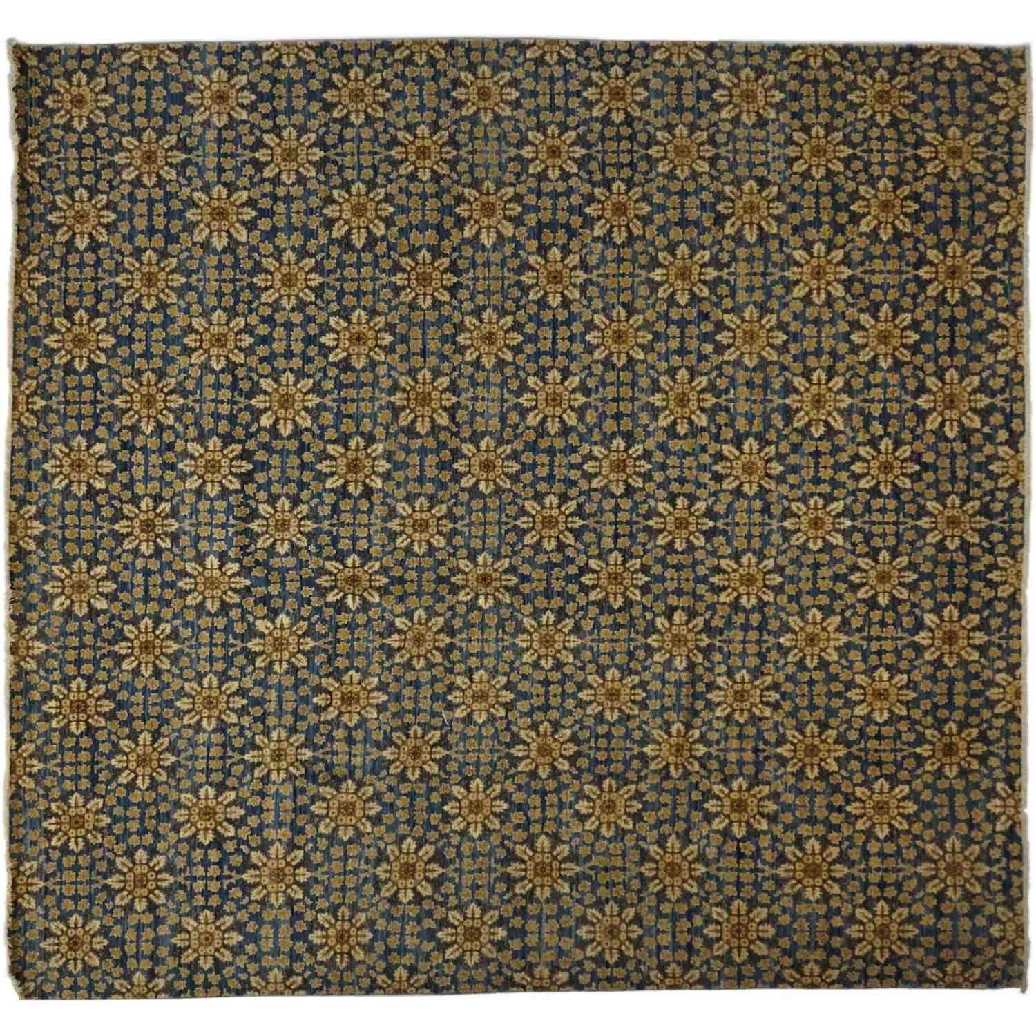 Eclectic Hand Knotted Area Rug 11 10 X 12 3 11 10 X 12
