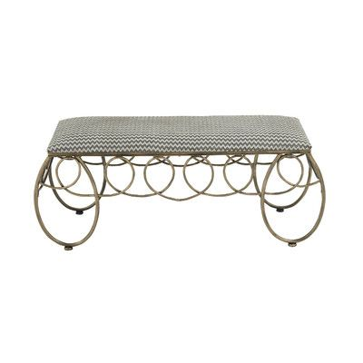 Woodland Imports Chic Looking Metal Bench $159.99