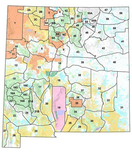 Big game units and coer maps new mexico department of for New mexico department of game and fish