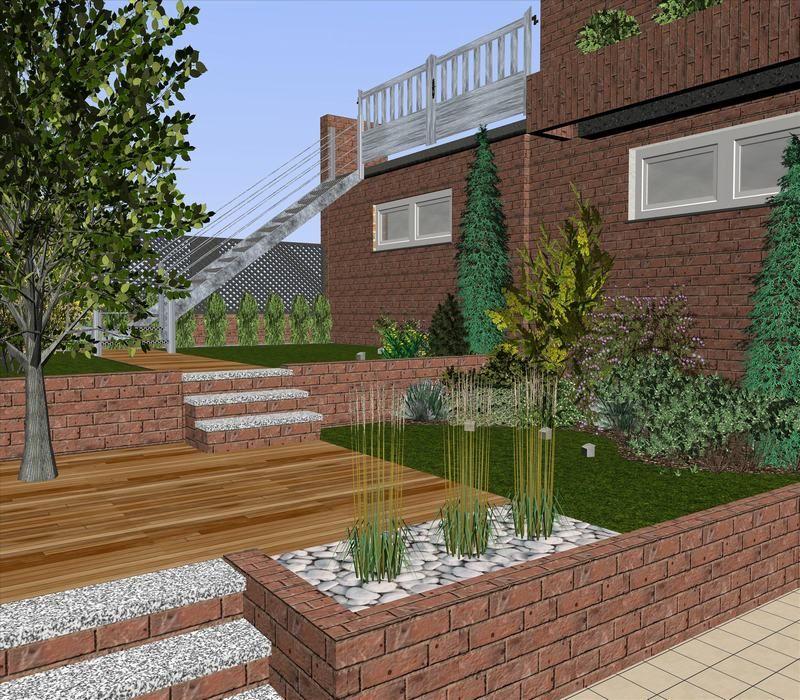Pin de jenny andrade en jardiner a pinterest - Diseno de jardines exteriores ...