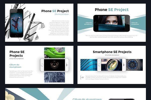 portal modern powerpoint template presentations lampen design